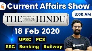 8:00 AM - Daily Current Affairs 2020 by Bhunesh Sir | 18 February 2020 | wifistudy