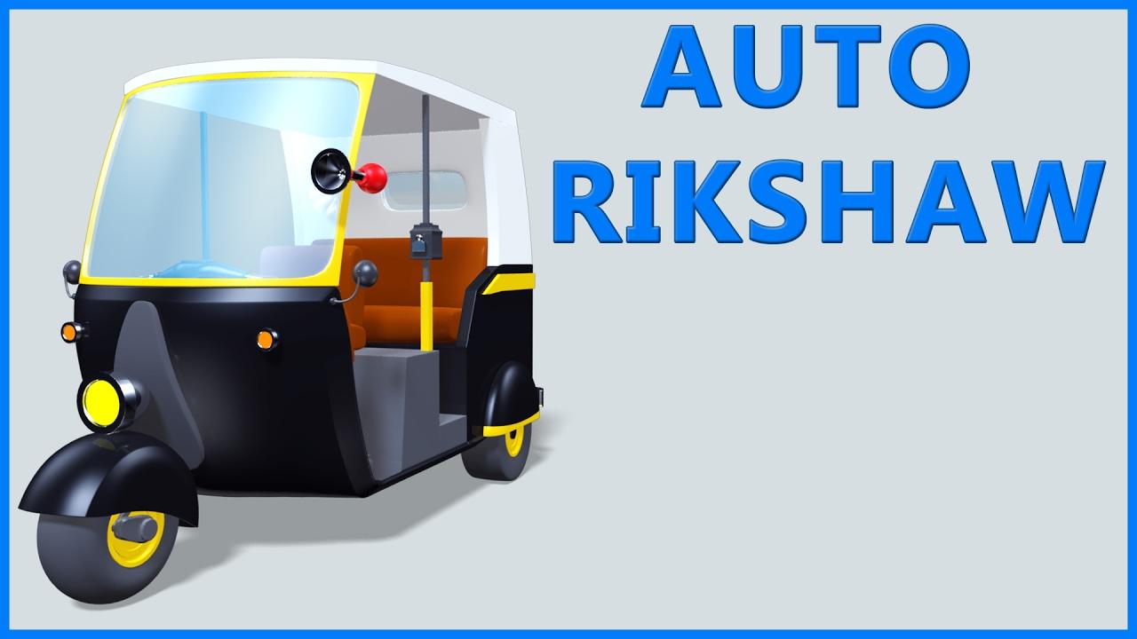 Download Auto Rickshaw Video | Tuk Tuk | Cartoon Animation | Kids Rhymes & Poems