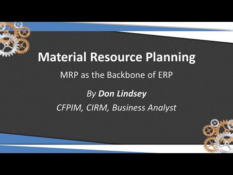 Material Resource Planning (MRP) by Don Lindsey 32 Soft