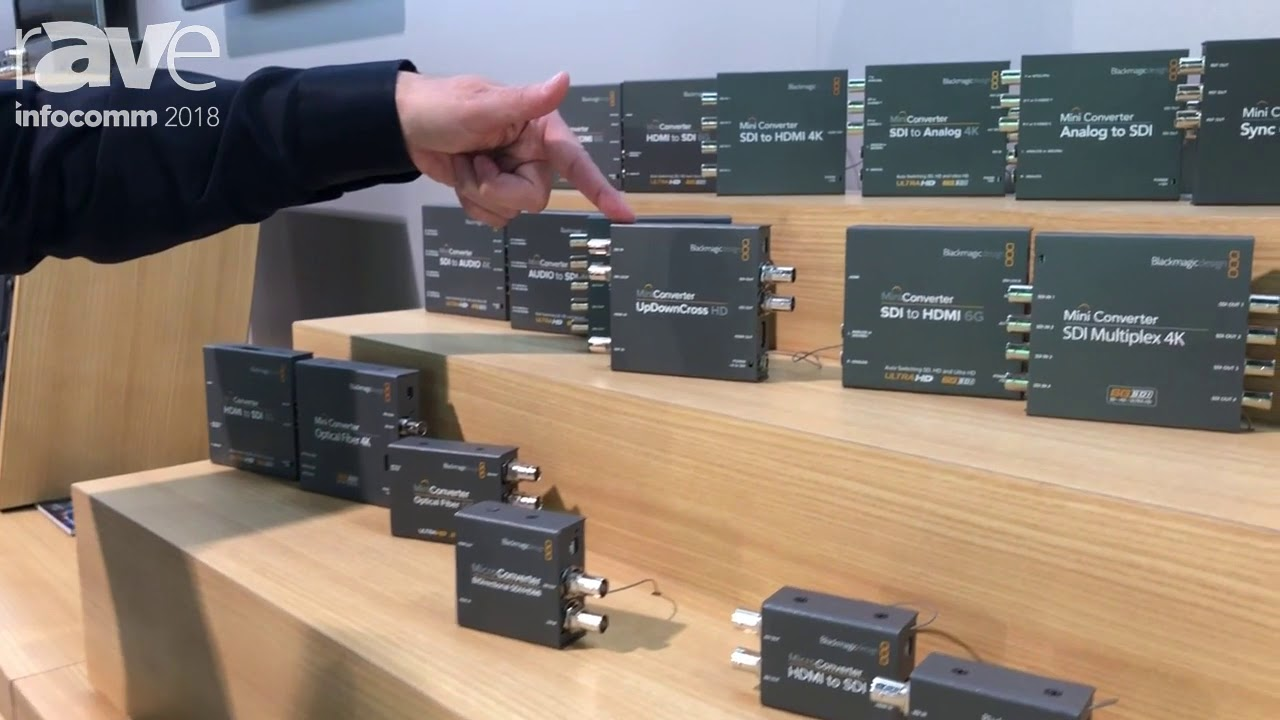 Infocomm 2018 Blackmagic Design Presents Mini Converters For Hdmi To From Sdi To From Fiber Sign Youtube