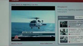 Singapore Navy Seahawk S-70B Antisubmarine Helicopter