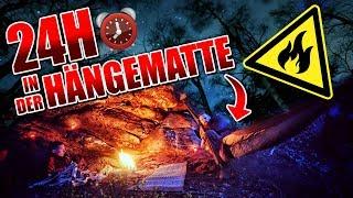 24H BIWAK mit HÄNGEMATTE mit neuer Ausrüstung - Hobo & Defense 4 - Overnighter Übernachtung