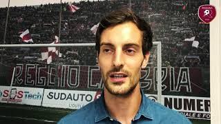 """Davide Bertoncini: """"La Reggina è una grande opportunità"""""""