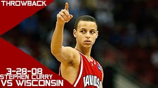 Stephen Curry 2008 March Madness Full HLTS vs Wisconsin (3-28-08) 33 Pts 4 Asts 4 Stls, INSANE!