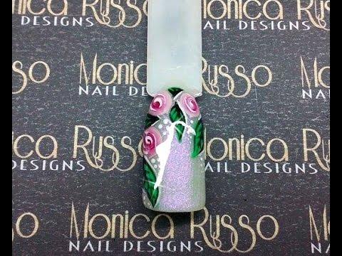Marbled Roses Nail Art (Gel Paint) - Sowhy SB Nails Review.
