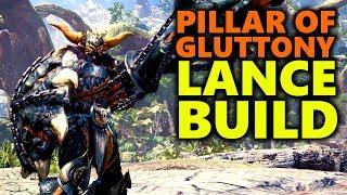DEVILJHO LANCE BUILD - PILLAR OF GLUTTONY! - Monster Hunter World