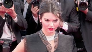 Kendall Jenner on the red carpet of Youth in Cannes