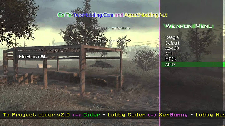 mw2  project cider v20  all client mod menu  tu8   download hd