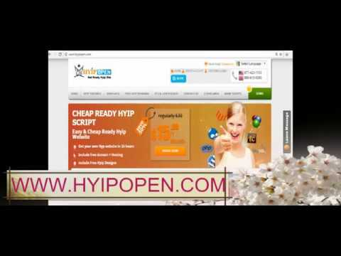 how to start my own hyip investment site