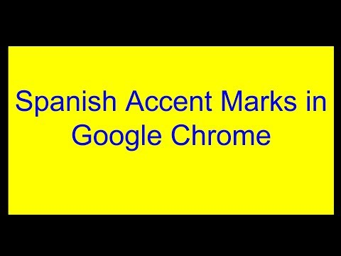 Spanish Accent Marks In Chrome (Chromebook)
