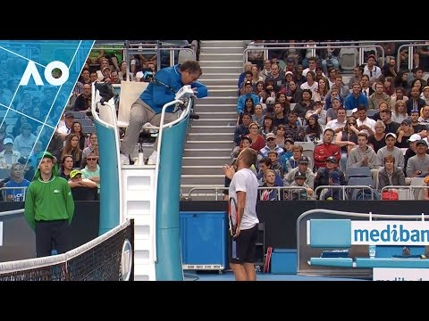 Dan Evans cracks it at coughing fan (3R) CONTAINS ADULT LANGUAGE | Australian Open 2017