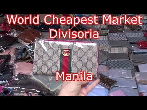 Divisoria Market (WORLD CHEAPEST MARKET)!!! 7 DOLLAR GUCCI BAG (Ultimate Guide) Manila Philippines