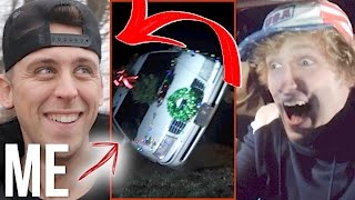 WE FLIPPED A LIMOUSINE WITH ME INSIDE! (w/ Roman Atwood)