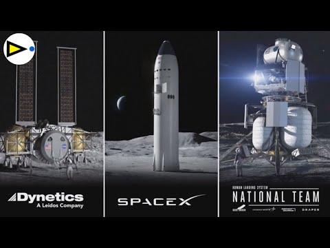 LANDERS TRIPULADOS elegidos por NASA en ARTEMIS: SpaceX, Blue Origin, Dynetics - STARSHIP LUNAR -