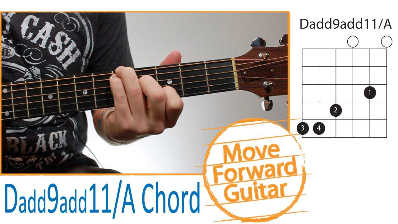 Guitar Chords For Beginners Dadd9 Add11a Youtube