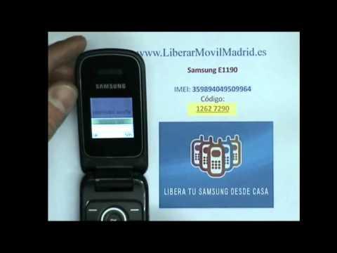 Liberar por IMEI Samsung E1190 Movistar, Vodafone, Orange, Yoigo