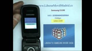 Liberar por IMEI Samsung E1190 Movistar, Vodafone, Orange, Yoigo