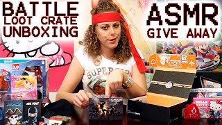 Toy Tingles 11 - ASMR Pirates vs. Ninja Loot Crate Unboxing, Tapping, Scratching, Crinkles Triggers