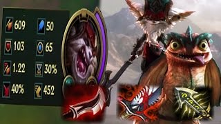 600+ DMG Kled Montage (LoL Gags)