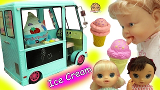 Babysitting 3 Magical Scoops Baby Alive Babies Eat From Doll Ice Cream Truck thumbnail