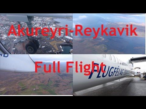 Akureyri-Reykavik Air Iceland Dash 8 Full Flight