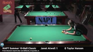 Janet Atwell vs Taylor Hansen - NAPT 2016 Summer 10-Ball Classic