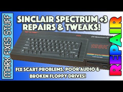 Sinclair Spectrum +3: Disk Drive, Audio & RGB SCART Fixes! Better Sound And Video!
