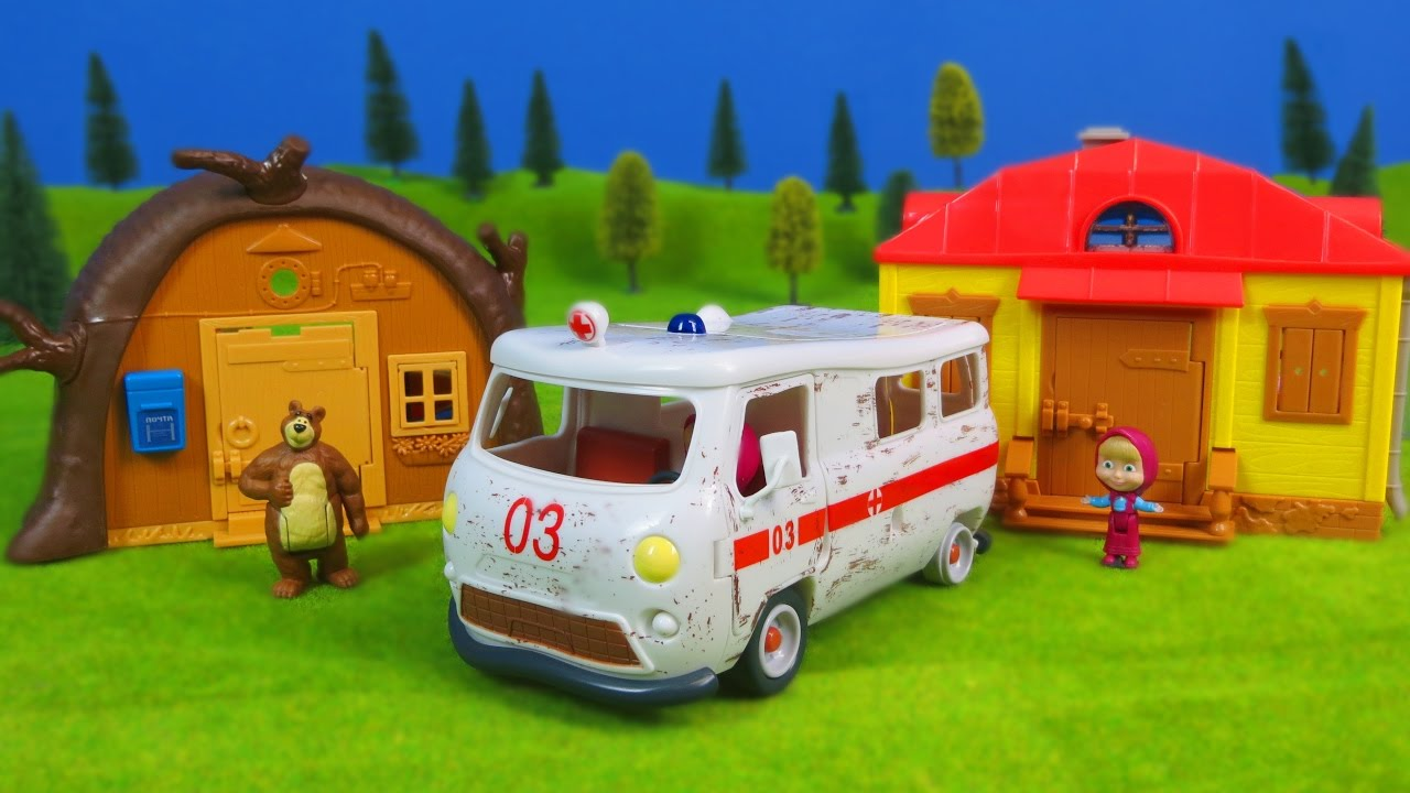 Mascha und der Bär deutsch: Krankenwagen, Bärenhaus & Mascha-Haus   Best of für Kinder