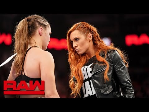 Becky Lynch Chooses Ronda Rousey As Her WrestleMania Opponent: Raw, Jan. 28, 2019