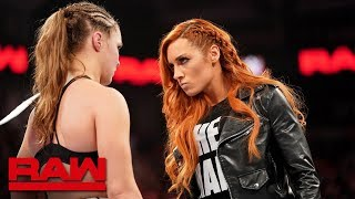 Becky Lynch chooses Ronda Rousey as her WrestleMania opponent: Raw, Jan. 28, 2019 thumbnail