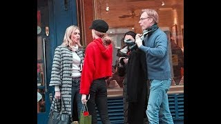 Donna Air enjoys lunch with ex Damian Aspinall and Freya