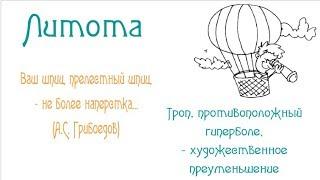 Основные тропы и фигуры речи русского языка