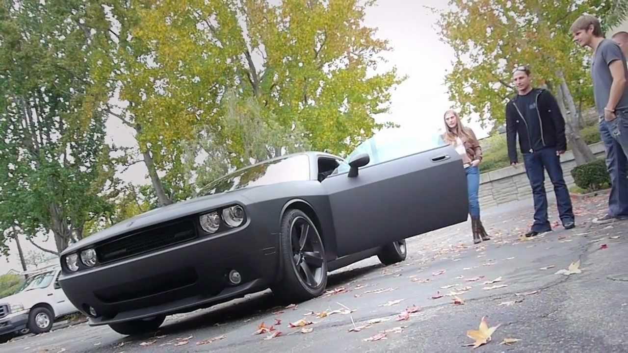 Dodge Challenger Srt8 Matte Black