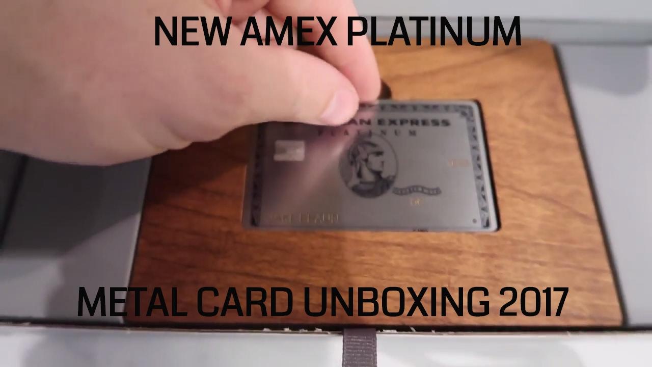Carte American Express En Metal.Amex Platinum Metal Card Unboxing
