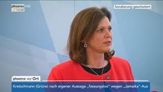 Ilse Aigner nach dem Scheitern der Sondierungen am 20.11.17