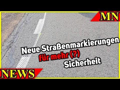 Neue Fahrbahnmarkierungen auf