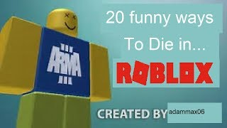 20 funny ways to die in roblox