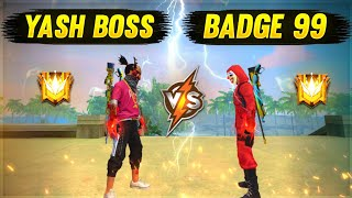 Badge99 Challenge Me 1vs1 🥺💔 - Garena Free Fire