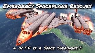 KSP SSTO Space Plane Submarine Shuttle Rescues (Tutorial:42) Kerbal Space Program 1.2 -  Stock Parts
