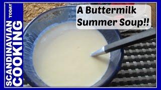 Kærnemælkskoldskål - Buttermilk Koldskål - Danish Cold Summer Dessert Soup