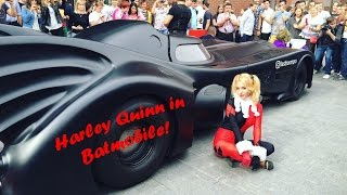 #7 Harley Quinn in Batmobile in Moscow!