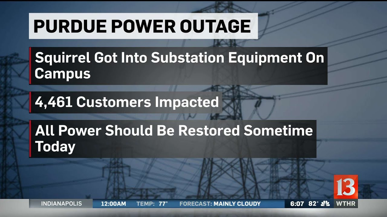 Purdue power outage caused by a squirrel