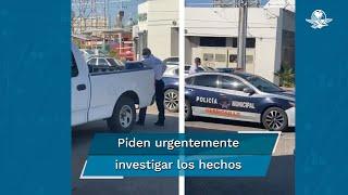La alcaldesa Célida López dijo que ordenó una investigación para que se esclarezcan los hechos de manera urgente; el agente señalado junto a su compañero de patrulla están a disposición de la Comisión de Honor y Justicia