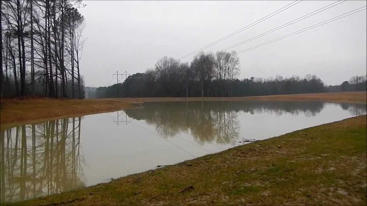 The 2 acre pond is now full youtube for 1 acre pond design