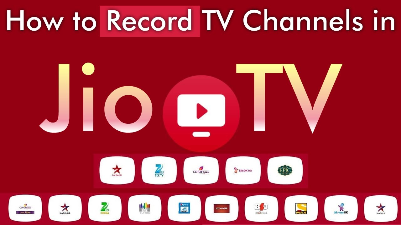 How to Record TV Channels in Jio TV App | JioTV App Recording | Jio TV  Recorder