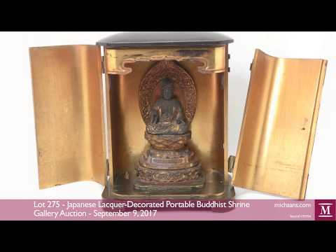Japanese Lacquer-Decorated Portable Buddhist Shrine at Michaan's Auctions