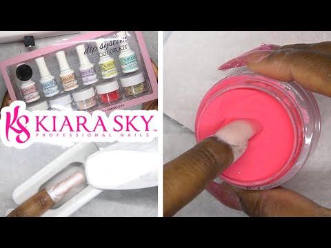 DIY Testing Dip Powder Nail Kit From Kiara Sky