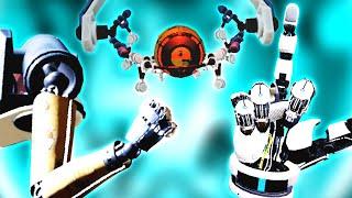 Rock Paper Scissors went violent in Aperture Hand Lab VR