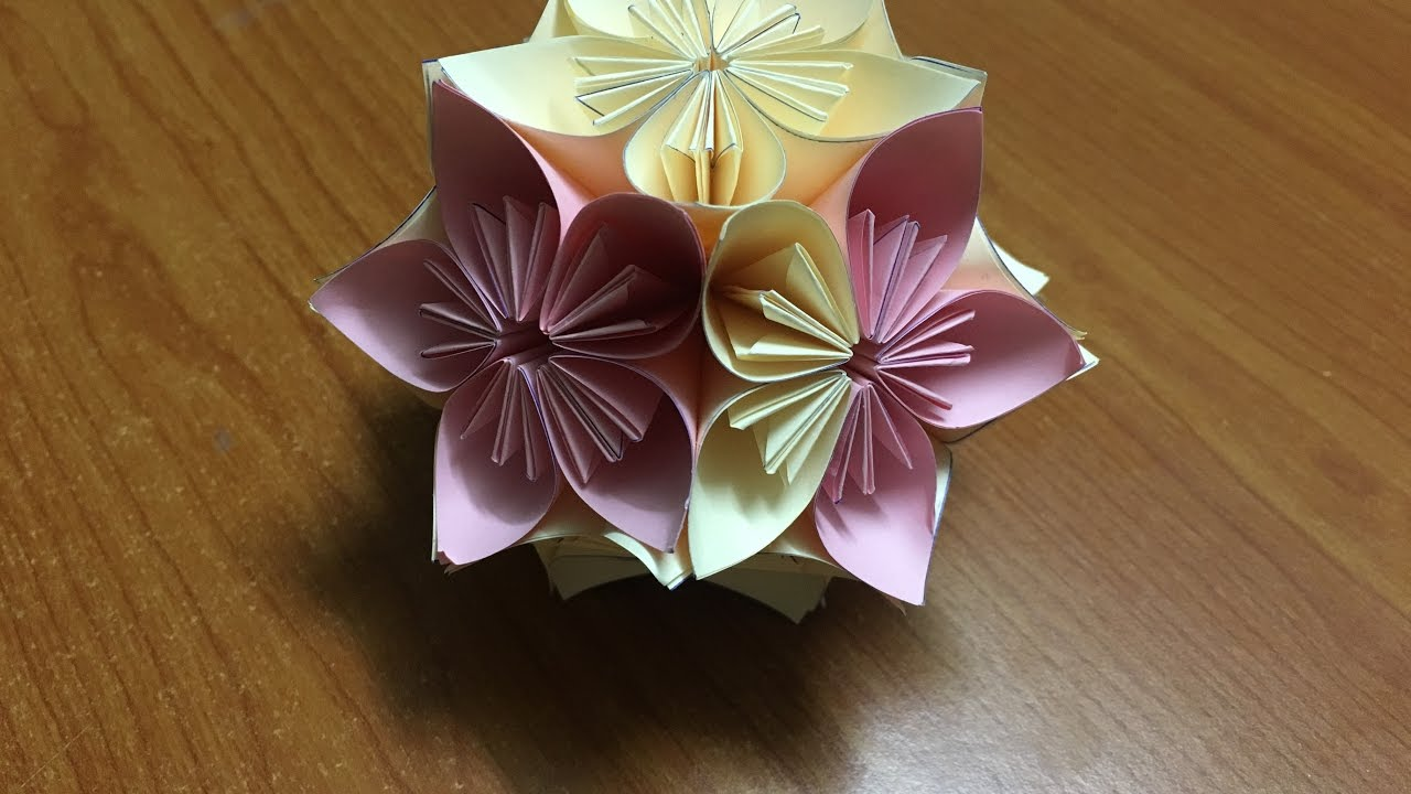 how to make a red origami flower