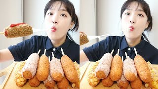 All the corn dogs eating show_without saying like my debut video💖A million NUDO anniversary:D